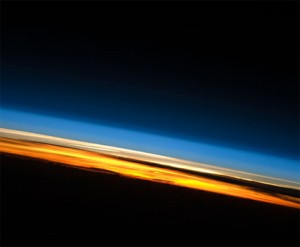 A sunset on the Indian Ocean as photographed from the International Space Station. Credit: NASA