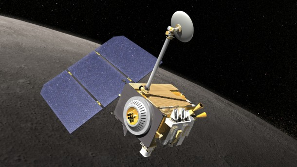 Artist's rendering of the Lunar Reconnaissance Orbiter spacecraft. Credit: NASA's Goddard Space Flight Center