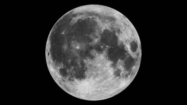 This composite image of the moon was constructed using Clementine data from 1994. Credit: NASA